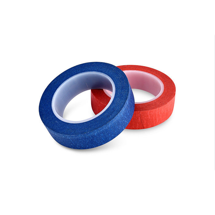 "60Y 2"" Narrow Width Colored Masking Tape Low Noise Nature Rubber UV Resistant"